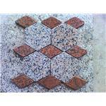 纯天然花岗岩石材 道路铺地石 异型六角形石材马赛克