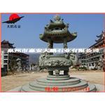 福建石雕工艺品 石刻香炉 寺庙双龙