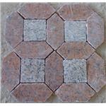 花岗岩荒料 步行街广场道路铺地石 异性六角石材马赛克