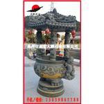 惠安石雕厂家 寺庙圆形香炉石雕 带