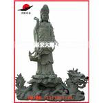福建惠安石雕观音 创意石雕佛像 骑龙观音石雕像