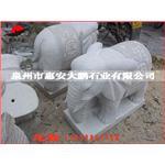 石雕厂家定制  大象汉白玉石雕  动物石雕大象