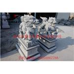 门口麒麟雕塑 芝麻白麒麟石雕