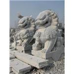 石雕石狮子,汉白玉献钱狮,石雕麒麟,石雕貔貅,石雕独角兽