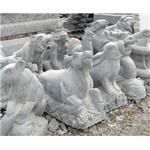 石雕12生肖,十二生肖牧童牛,石雕鹰,石雕九龙壁