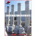 福建石材雕塑厂家供应 石雕文化柱 双龙雕刻龙柱