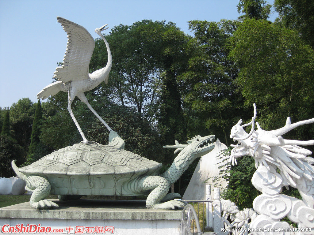 龙龟仙鹤石雕图片