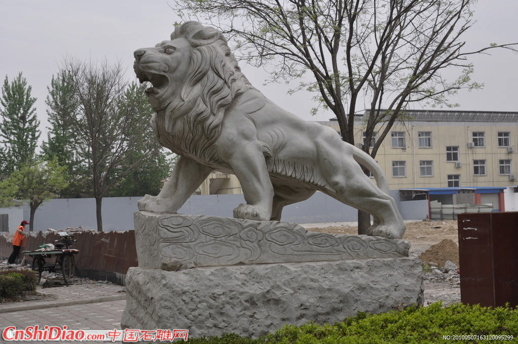 石狮子 狮子 雕塑图片
