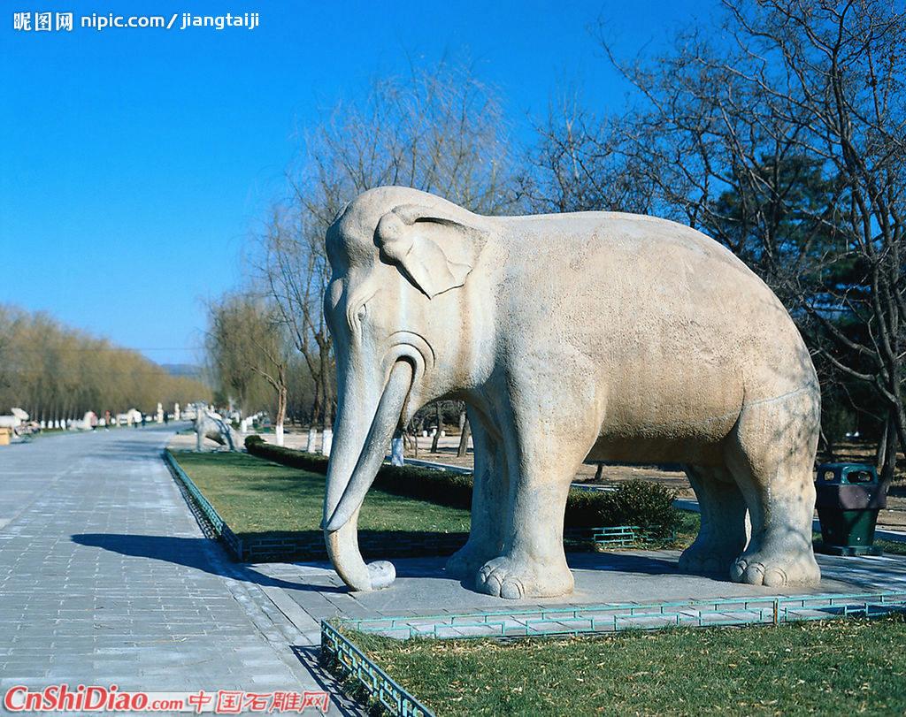 大象石雕图片