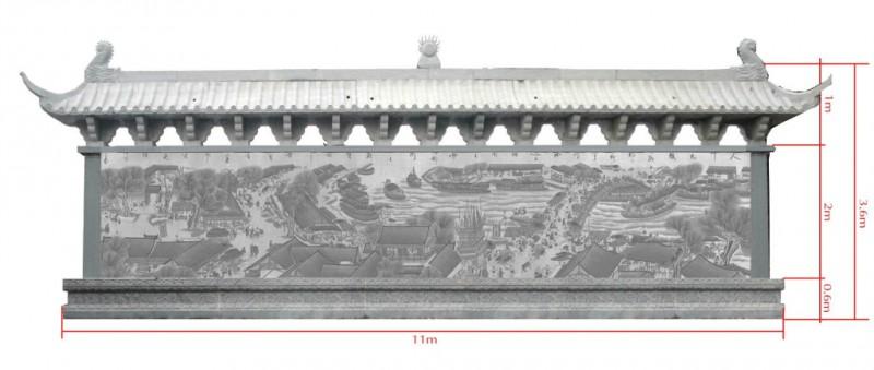 供应嘉祥各种规格尺寸石料石雕浮雕清明上河图浮雕石雕24孝