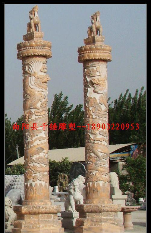 直销石雕龙柱,石雕华表,浮雕龙柱,罗马柱,华表柱雕刻厂家