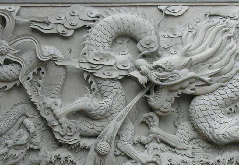 曲阳石雕 精品浮雕设计制作 九龙壁