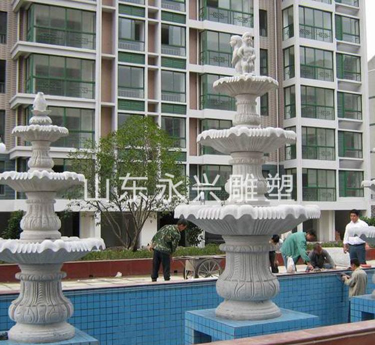 石材水池喷泉 石雕