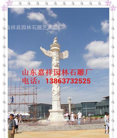 石雕龙柱、中华柱、石雕华表柱、罗马柱、浮雕龙柱、石雕盘龙柱