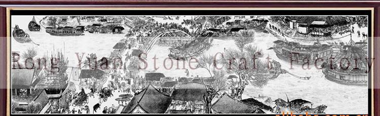 石雕影雕工艺定制,黑白影雕,彩色影雕-1