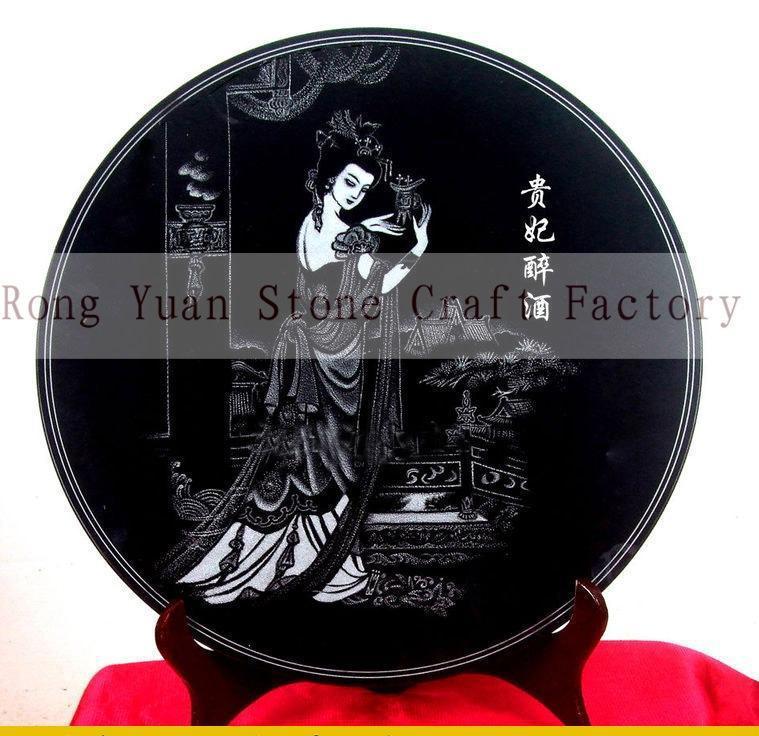 石雕影雕工艺定制,黑白影雕,彩色影雕-14