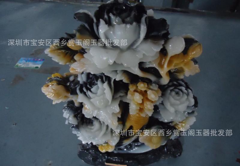 仿福建寿山石雕刻风水摆件批发 人心如意 石料工艺品礼品 收藏