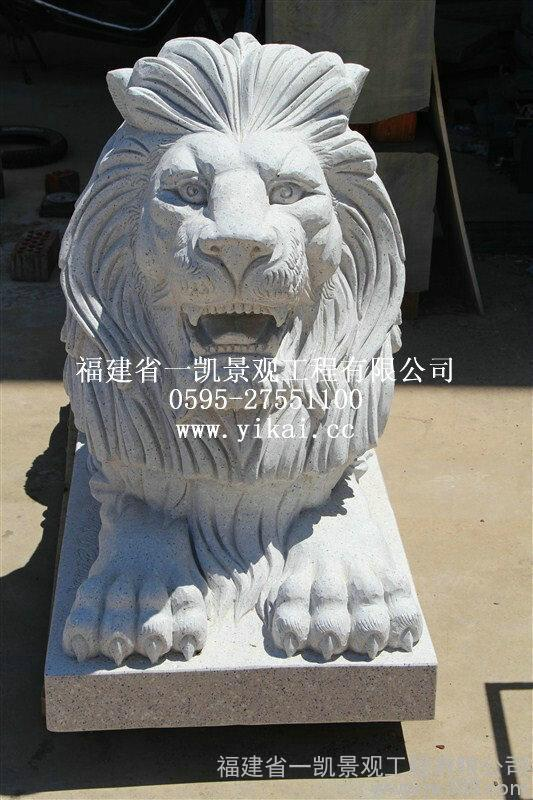 厂家专业生产欧式石狮子 石狮子订做 石狮子批发厂家