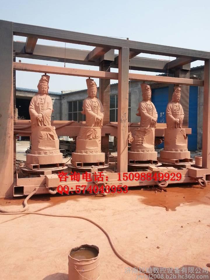 大型四轴立体雕刻机、大型石狮子、佛像、龙柱立体雕刻机