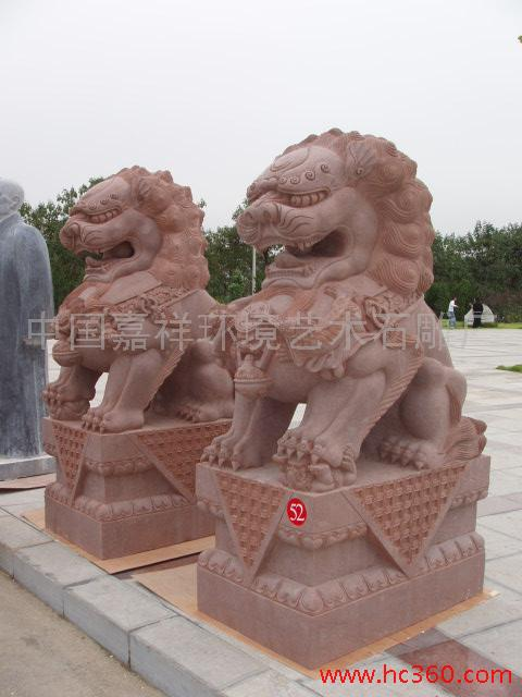 供应至善各种规格尺寸铸铁铜雕石料玉料门狮,石狮子;京狮港狮汇丰狮