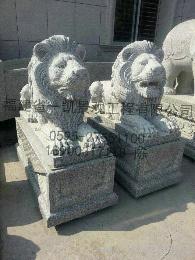 厂家专业生产石雕非洲狮 石雕北狮 石雕石狮子批发
