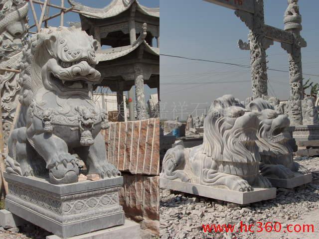 供应石狮,石雕麒麟,拓荒牛,龙凤大鹏,大象骏马,宝瓶鹿鹤等石雕动物 各种规格尺寸