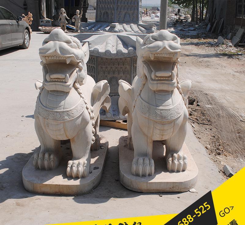 石雕貔貅 石雕麒麟 动物石雕 企业银行门口摆放招财辟邪批发