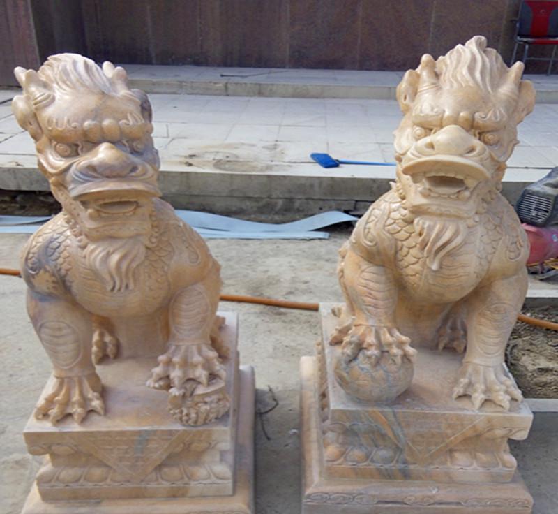 加工定做石雕麒麟 各种玻璃钢 铜雕塑等工艺品