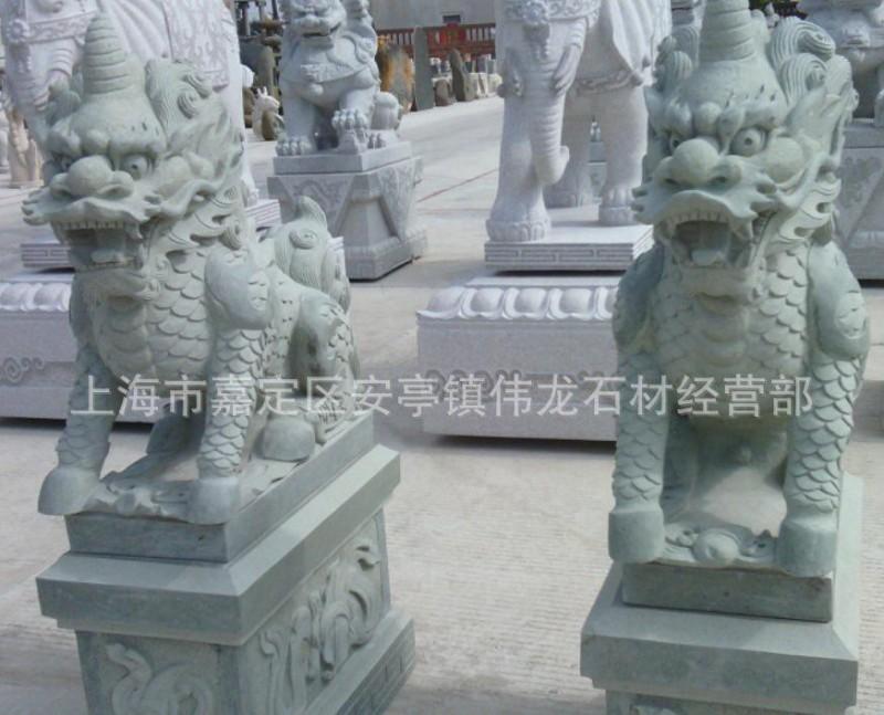 石材招财麒麟.福建石雕麒麟,貔貅,独角兽,獬豸石雕瑞兽