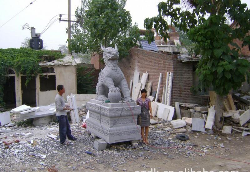 麒麟石雕  麒麟雕塑  曲阳石雕麒麟  石雕麒麟价格