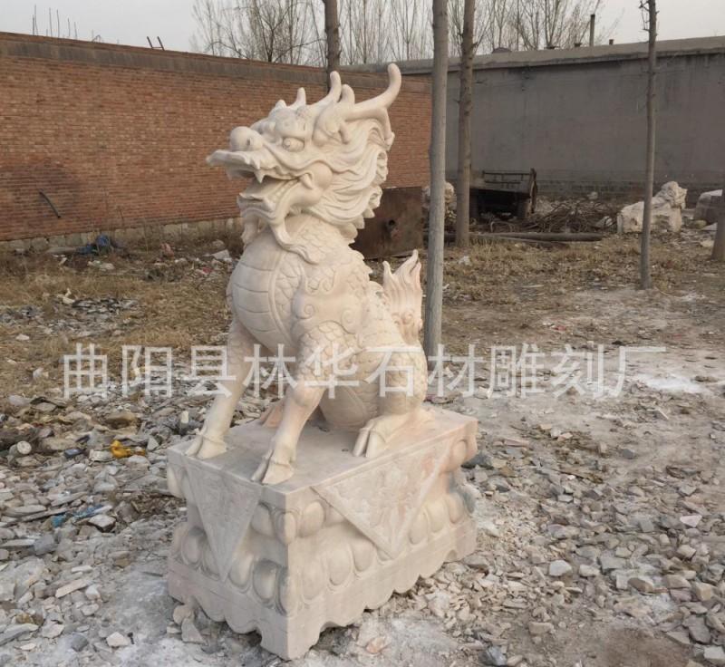 石雕麒麟 镇宅辟邪石头麒麟 动物石雕厂家定做直销(高1.6米
