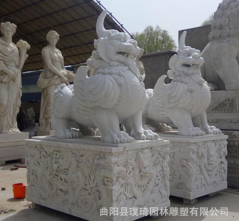 加工定做石雕貔貅 铸铜 玻璃钢 景观雕塑等工艺品