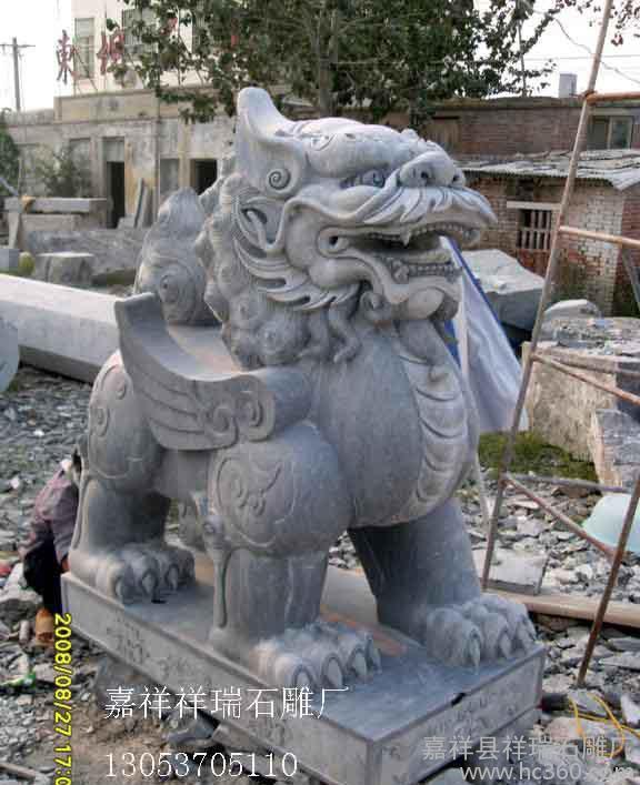 常年销售石雕貔貅 山东石材兽 石兽