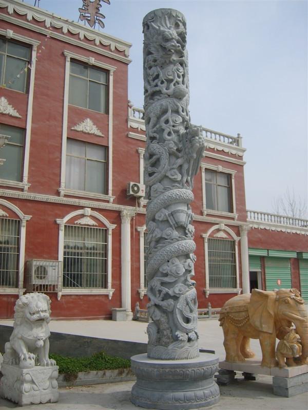 龙柱       石雕龙柱        龙柱加工     龙柱价格     嘉祥石雕