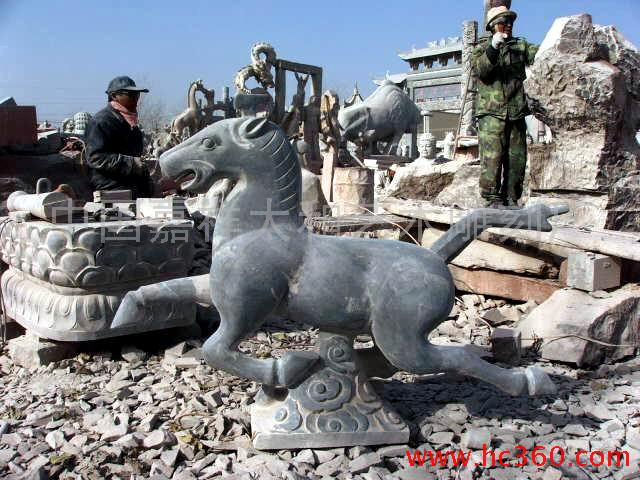 供应石雕马,骏马,马踏飞燕,驷马聚首