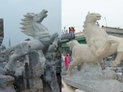 供应各种品牌各种型号石雕马骏马,马踏飞燕马超飞鹰