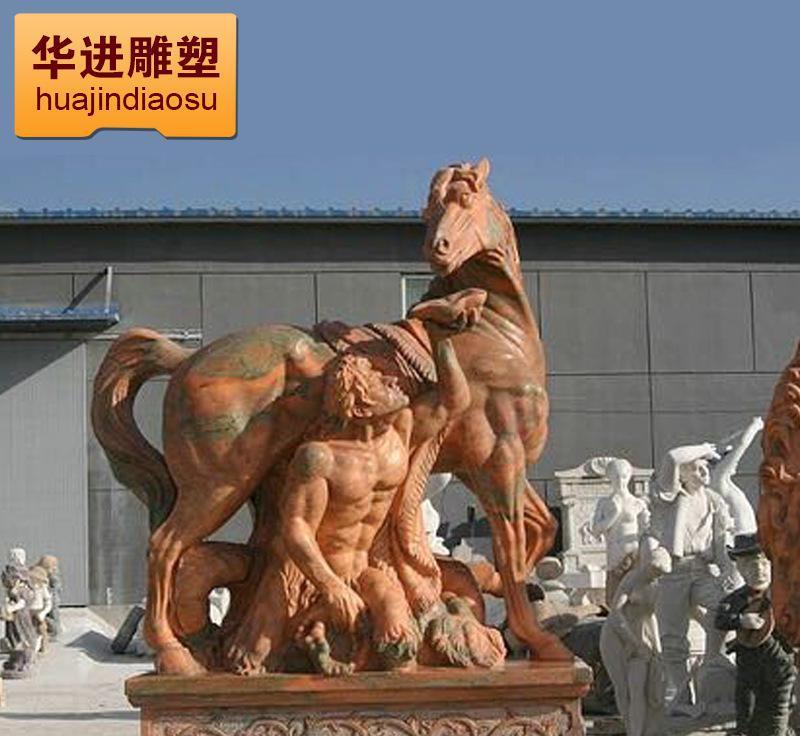厂家直销 园林石雕马摆件 工艺园林动物石雕