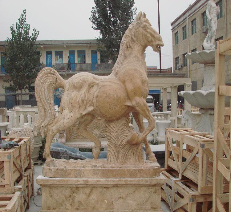 石雕马   汉白玉石雕马  晚霞红石雕马制作过程   100