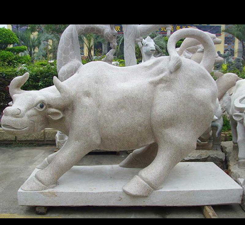 石雕动物牛 做工精