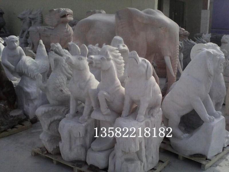 (厂家精品) 十二生肖属相摆件 石雕牛 石雕马