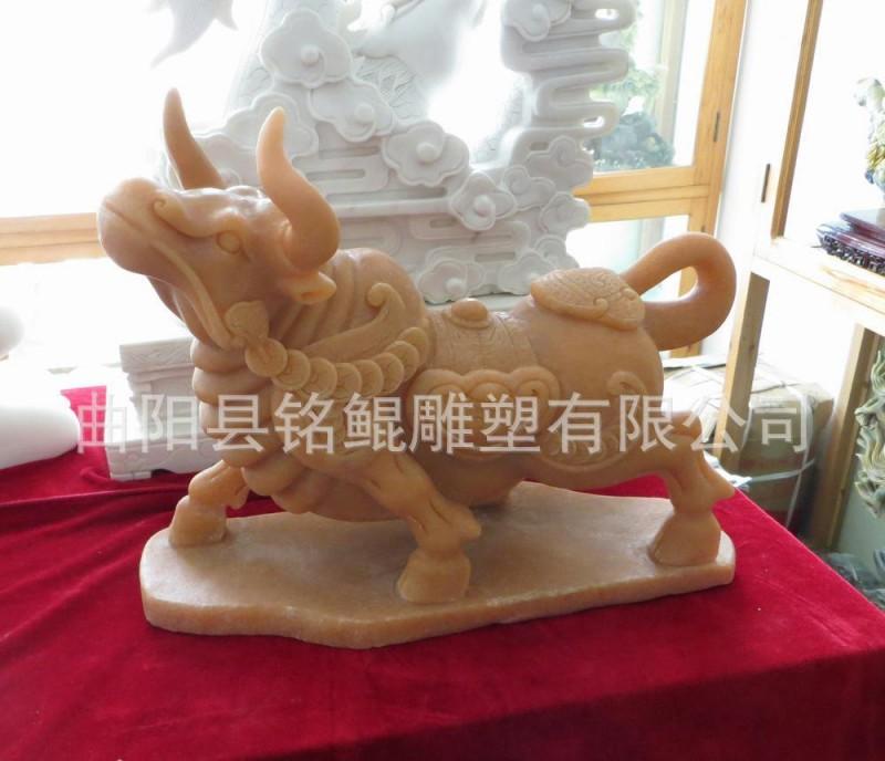 曲阳石雕动物雕塑  晚霞红石雕牛 石牛雕刻 做工精湛石雕