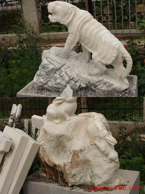 供应石雕十二生肖柱,12生肖福运众多中央美院雕塑大师作品石雕 各种规格型号