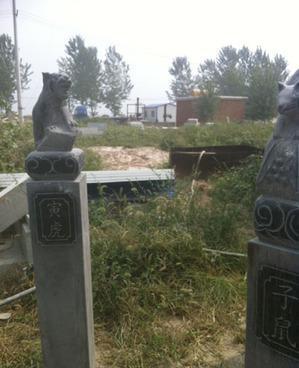 石雕十二生肖拴马