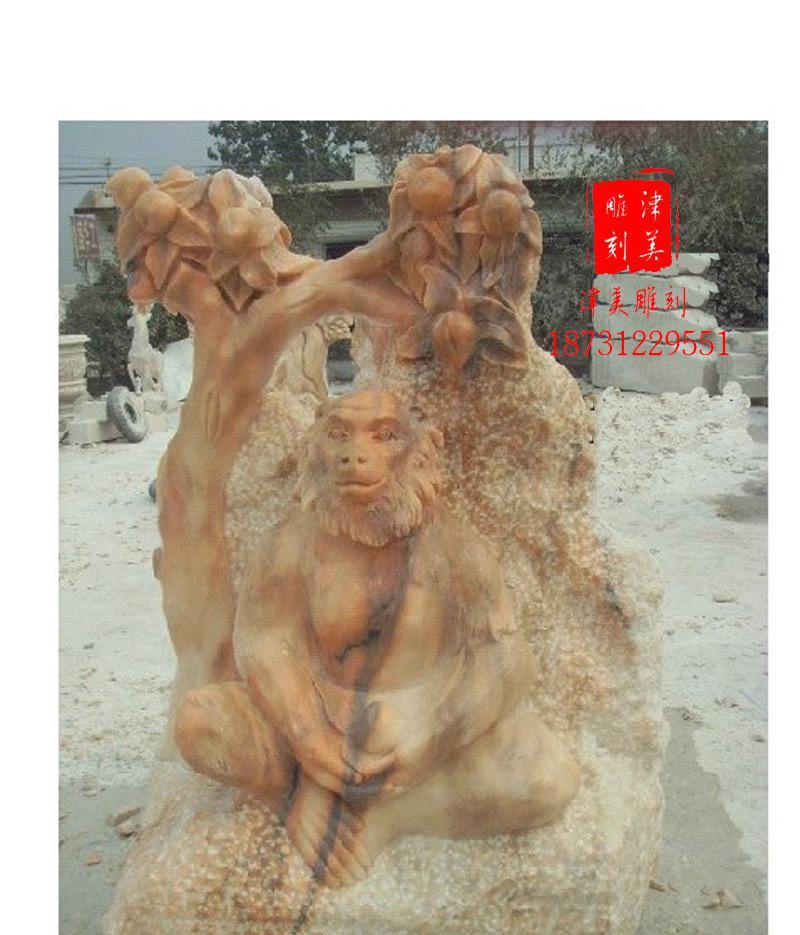 厂家自销晚霞红石雕十二生肖  园林装饰动物摆件 十二生肖工艺