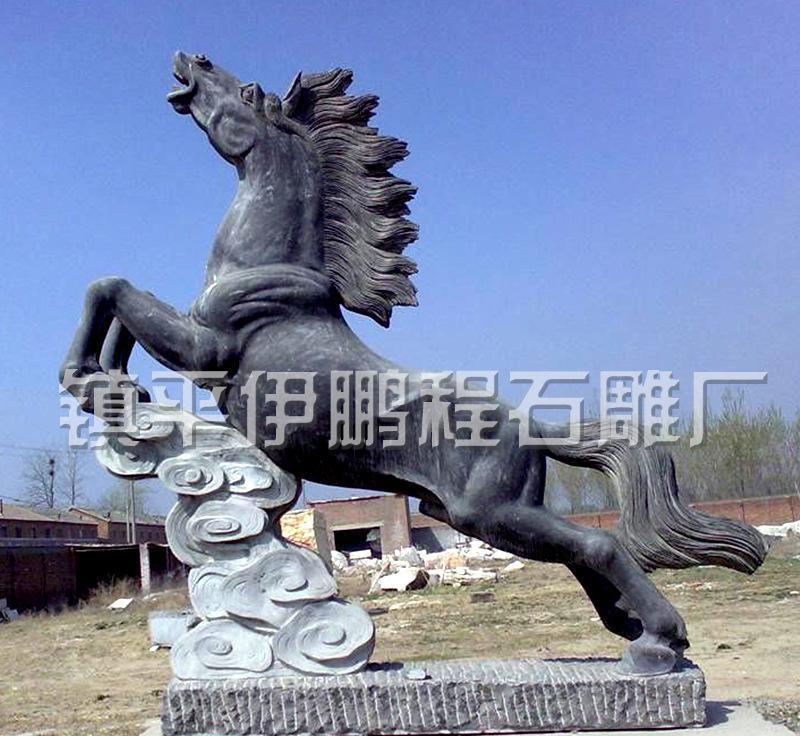 石雕马 石雕龙 石雕十二生肖工艺摆件 镇平县动物石雕厂家
