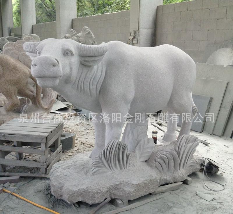 惠安石雕  十二生肖摆件 石雕牛摆件