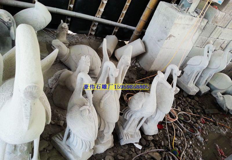 芝麻白仙鹤、动物雕刻、人物雕刻、佛像雕刻、现代人物雕刻、工艺