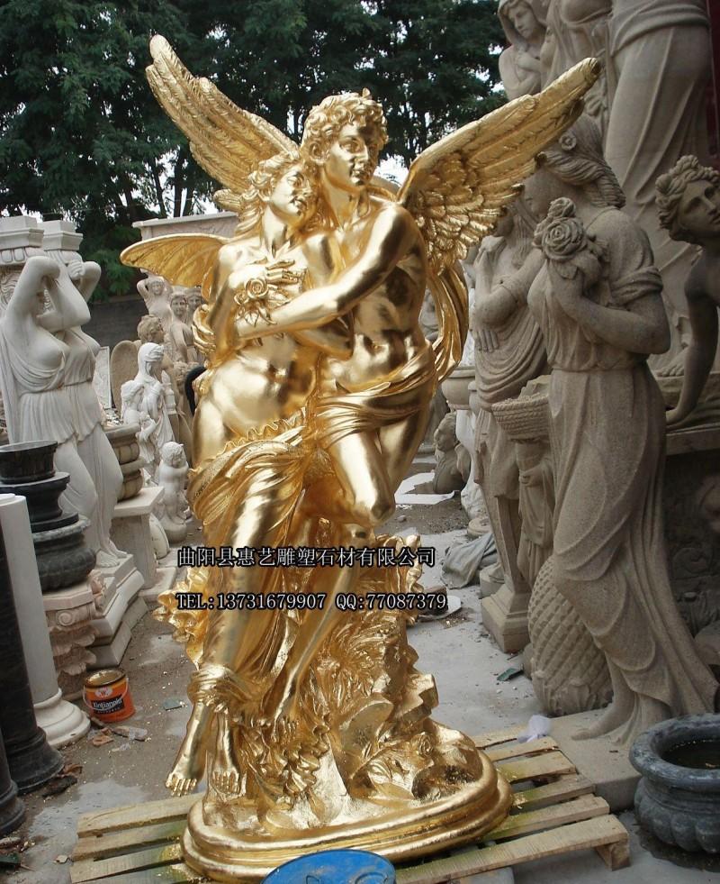 玻璃钢雕塑 玻璃钢仿铜 西方人物雕塑 LG-07