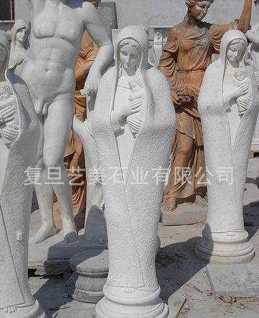 石雕圣母耶稣雕塑西方人物小天使女神欧式人物雕像 人物人体雕像