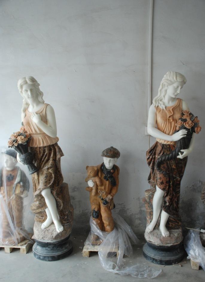 【厂家直销】东西方人物雕塑  大气石雕东西方人物 高品质石雕